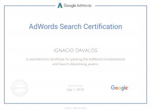 Certificado en ADwords
