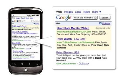 Busquedas en moviles Google