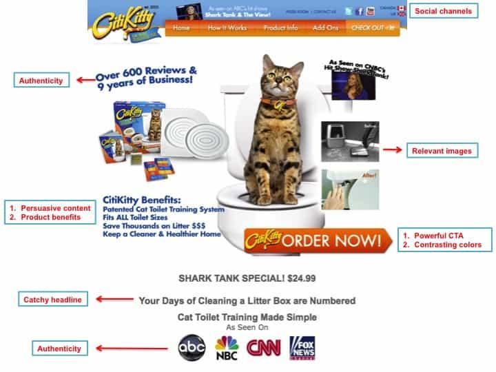 Responsive Landing page Cat CTA
